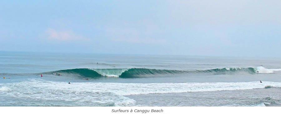 Surfeurs à Canggu Beach