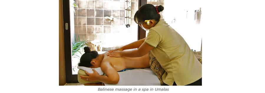 Massage balinais dans un spa d'Umalas