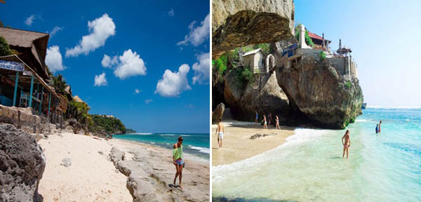 Bingin Beach et Blue Point/Suluban Beach