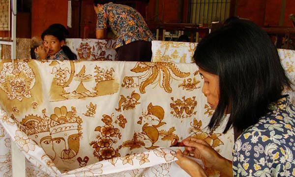 fabriquent du Batik